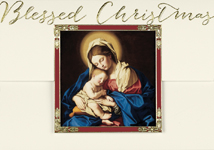Madonna and Child at Rest Religious Christmas Card