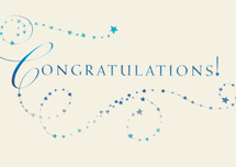 Starry Swirls Congratulations Cards