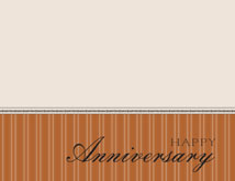 Copper Pinstripe Anniversary Card